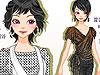 ファッション短髪美少女