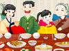 装飾韓式家庭パーティ