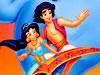飛び毯上の王子と姫