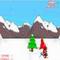 Snowboarding Santa